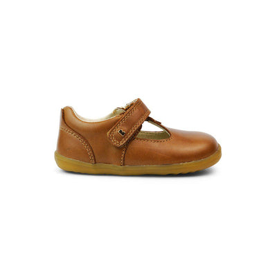 Bobux Step-Up Louise T-Bar Shoes - Caramel-Shoes- Natural Baby Shower