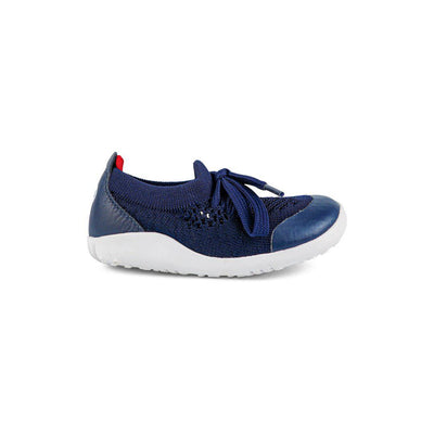 Bobux Step-Up Play Knit Trainers - Navy + Red-Shoes- Natural Baby Shower