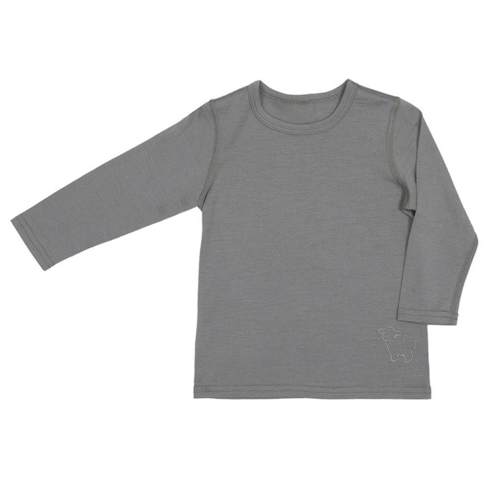 Bodies & Vests - Bambino Merino Long Sleeve Vest Top - Sage