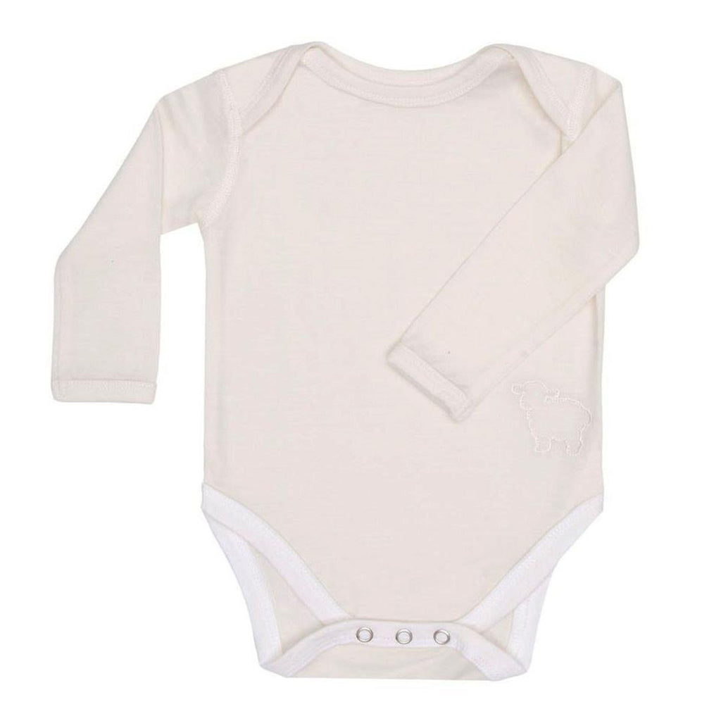 Bodies & Vests - Bambino Merino Long Sleeved Body - Ivory