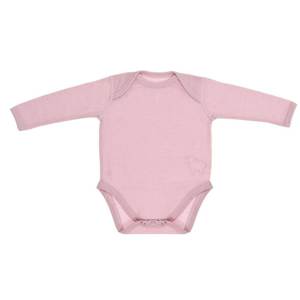 Bodies & Vests - Bambino Merino Long Sleeved Body - Petal