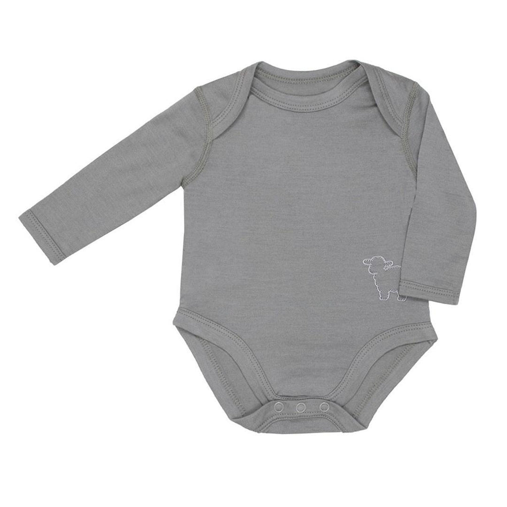 Bodies & Vests - Bambino Merino Long Sleeved Body - Sage