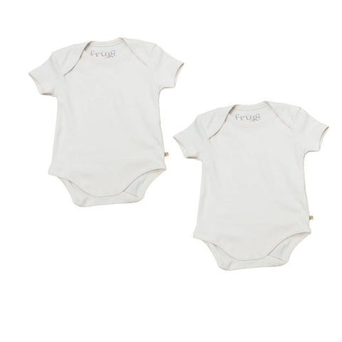 Frugi Bodies - Short Sleeve - 2 Pack - Bodies & Vests - Natural Baby Shower