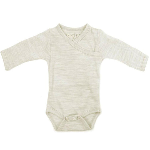 Bodies & Vests - Merino Kids Cocooi Bodysuit - Cream