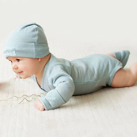 Merino Kids Cocooi Bodysuit - Honey Oat Melange-Bodysuits- Natural Baby Shower