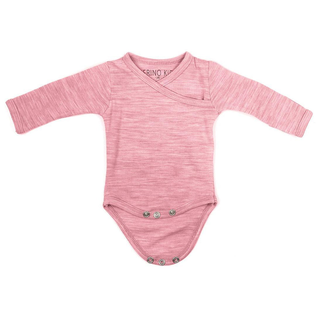 Merino Kids Cocooi Bodysuit - Raspberry Melange-Bodysuits- Natural Baby Shower