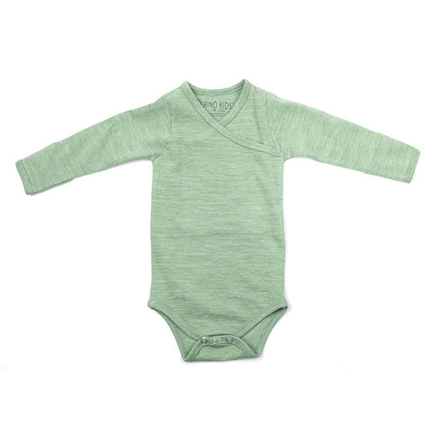 Merino Kids Essentials Bodysuit - Mint-Bodysuits- Natural Baby Shower
