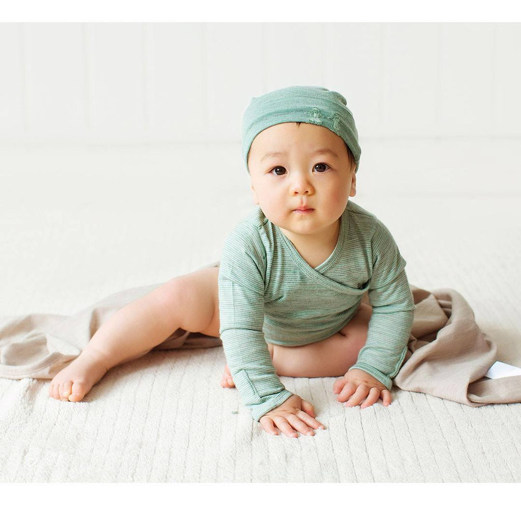 Bodies & Vests - Merino Kids Essentials Bodysuit - Mint