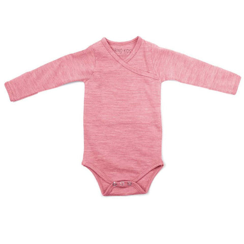 Merino Kids Essentials Bodysuit - Raspberry-Bodysuits- Natural Baby Shower