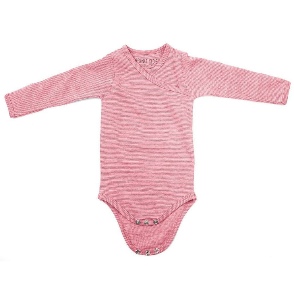 Bodies & Vests - Merino Kids Essentials Bodysuit - Raspberry