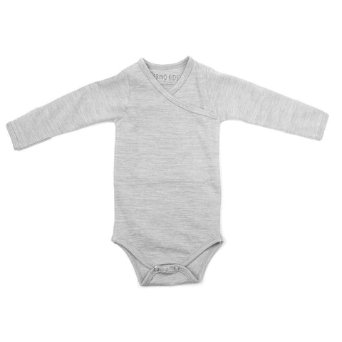 Merino Kids Essentials Bodysuit - Turtle Dove-Bodysuits- Natural Baby Shower