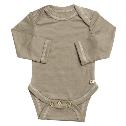 Nurtured by Nature Long Sleeved Body - Hush Merino - Kelp - Bodies & Vests - Natural Baby Shower