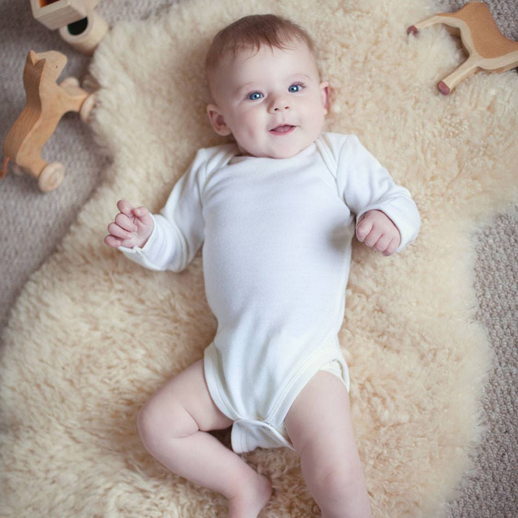 Bodies & Vests - Superlove Merino Bodysuit - Pure Ivory