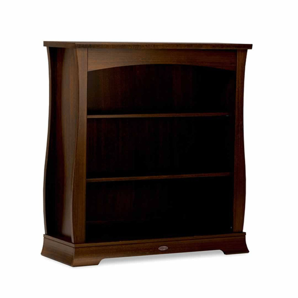 Bookcases - Boori Sleigh Bookcase Hutch - English Oak