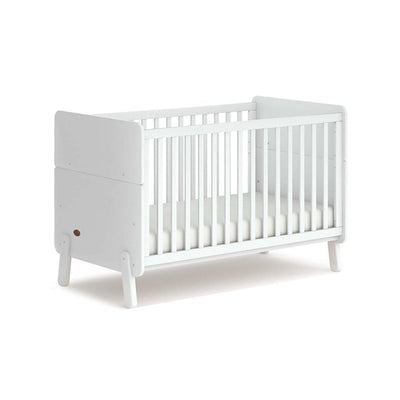 Boori Natty Cot Bed - White-Cot Beds-White- Natural Baby Shower