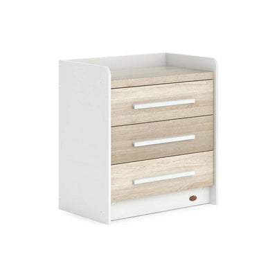 Boori Neat 3 Drawer Chest - White + Oak-Dressers & Chests-White + Oak- Natural Baby Shower