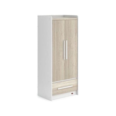 Boori Neat Wardrobe - White + Oak-Wardrobes-White + Oak- Natural Baby Shower