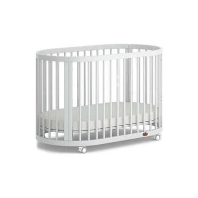 Boori Oasis Oval Cot - White-Cot Beds-White- Natural Baby Shower