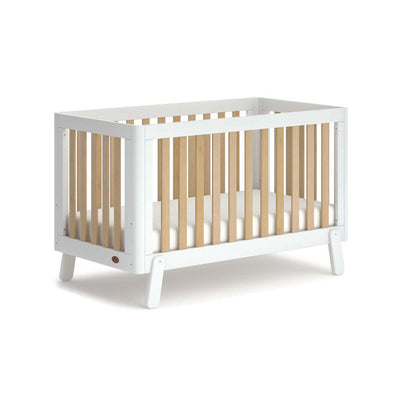Boori Turin Cot Bed - White + Almond-Cot Beds-White + Almond- Natural Baby Shower