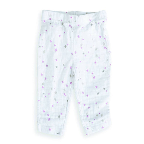 Bottoms - Aden & Anais Muslin Pants - Lovely Starburst