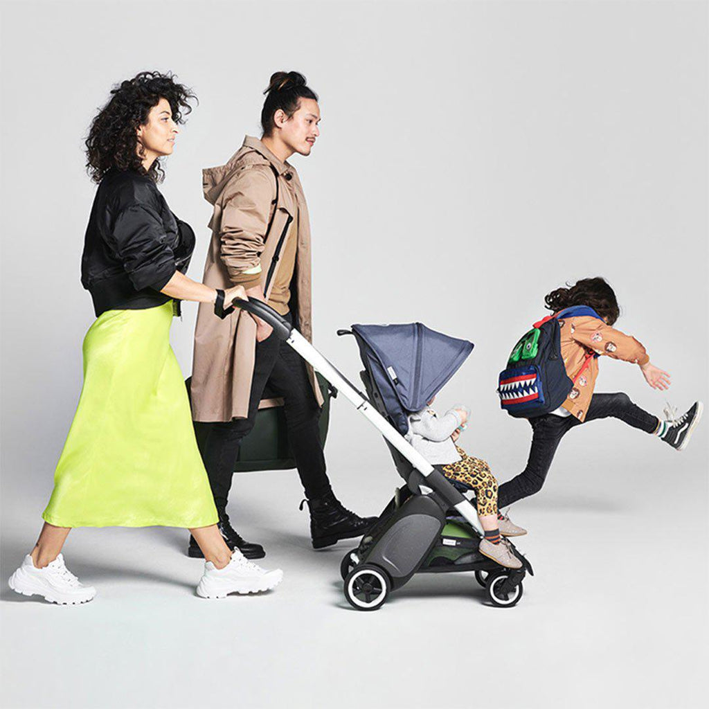 Bugaboo Ant Stroller - Black + Steel Blue-Strollers- Natural Baby Shower