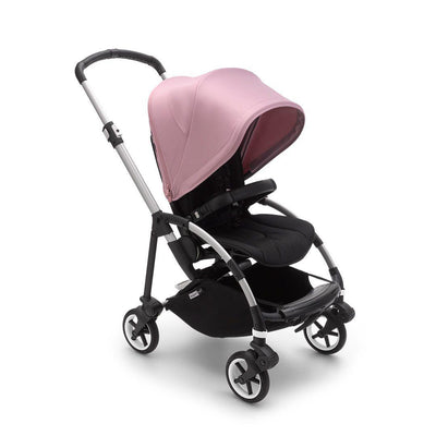 Bugaboo Bee 6 Pushchair - Aluminium + Soft Pink-Strollers-Black- Natural Baby Shower