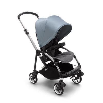 Bugaboo Bee 6 Pushchair - Aluminium + Vapor Blue-Strollers-Black- Natural Baby Shower