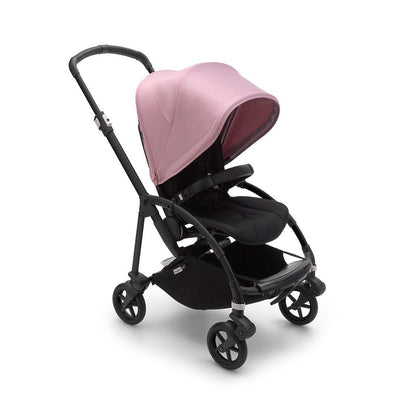 Bugaboo Bee 6 Pushchair - Black + Soft Pink-Strollers-Black- Natural Baby Shower