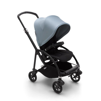 Bugaboo Bee 6 Pushchair - Black + Vapor Blue-Strollers-Black- Natural Baby Shower