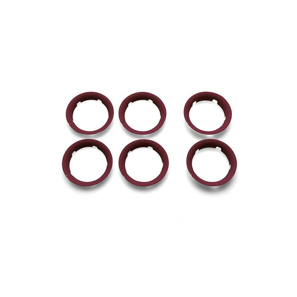 Stroller Accessories - Bugaboo Bee5 Wheel Caps - Dark Red