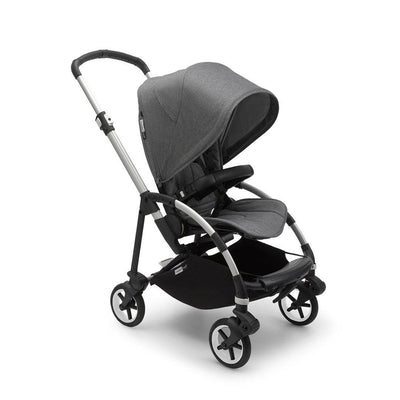 Bugaboo Bee 6 Complete Pushchair - Aluminium + Grey Melange-Strollers- Natural Baby Shower