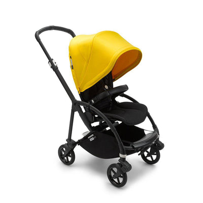 Bugaboo Bee 6 Complete Pushchair - Black + Lemon Yellow-Strollers- Natural Baby Shower