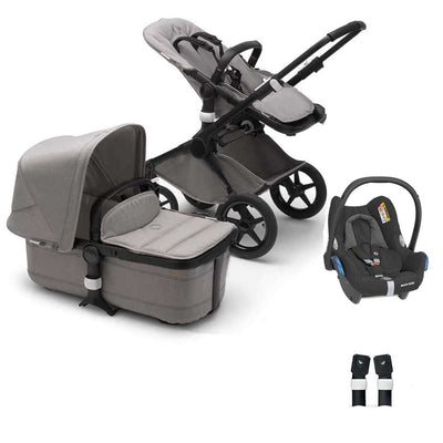 Bugaboo Fox+ CabrioFix Travel System - Mineral Light Grey-Travel Systems-No Base- Natural Baby Shower