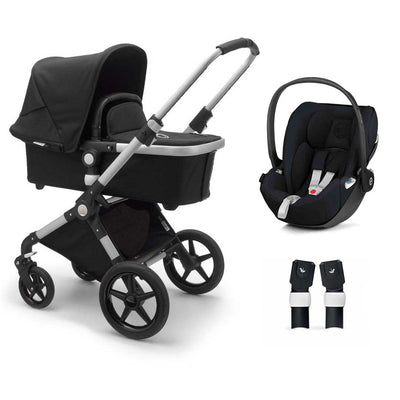 Bugaboo Lynx Cloud Z Travel System - Aluminium + Black-Travel Systems-No Base- Natural Baby Shower