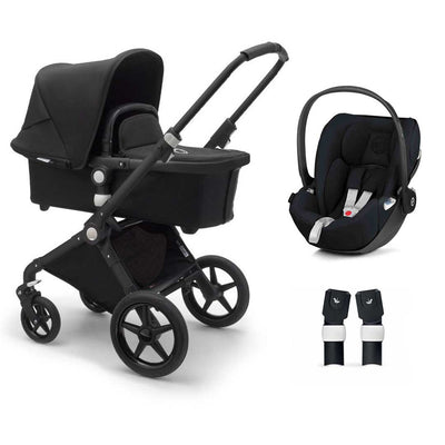 Bugaboo Lynx Cloud Z Travel System - Black + Black-Travel Systems-No Base- Natural Baby Shower