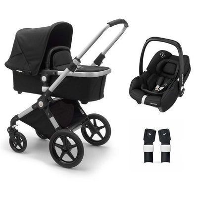 Bugaboo Lynx Tinca Travel System - Aluminium + Black-Travel Systems- Natural Baby Shower