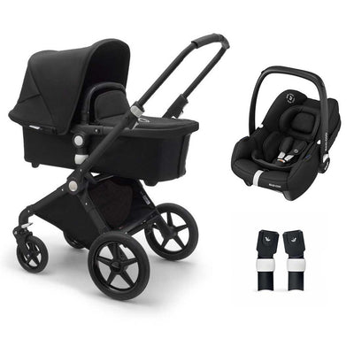 Bugaboo Lynx Tinca Travel System - Black + Black-Travel Systems- Natural Baby Shower