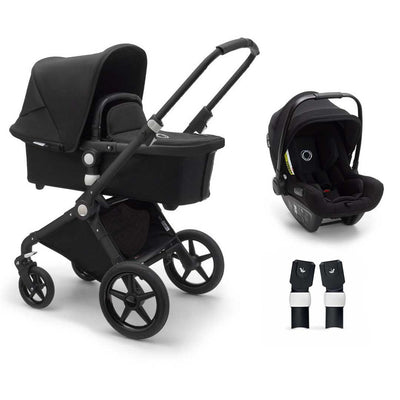 Bugaboo Lynx Turtle Travel System - Black + Black-Travel Systems- Natural Baby Shower