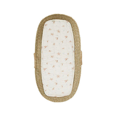 Cam Cam Copenhagen Changing Basket Liner - Windflower Creme-Changing Mats & Covers- Natural Baby Shower