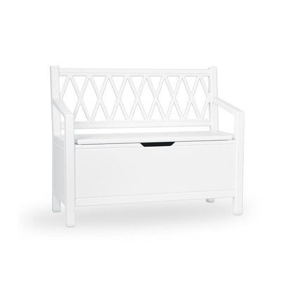 Cam Cam Copenhagen Harlequin Kids Storage Bench - White-Tables & Chairs- Natural Baby Shower