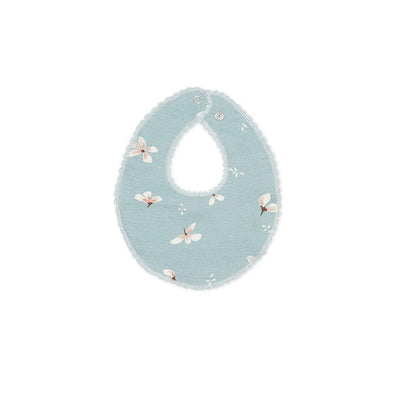 Cam Cam Copenhagen Jersey Teething Bib - Windflower Blue-Bibs- Natural Baby Shower