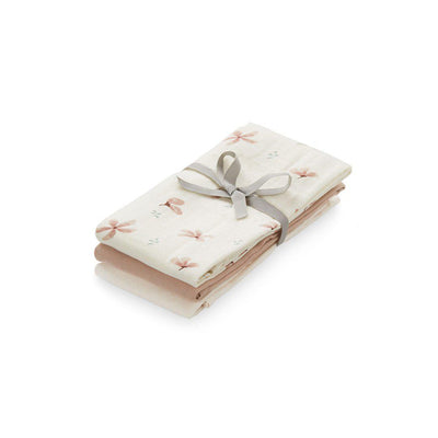 Cam Cam Copenhagen Muslin Cloth - Mix Windflower Creme/Dusty Rose/Powder - 3 Pack-Muslin Squares-Mix Windflower Cream/ Dusty Rose/ Powder- Natural Baby Shower