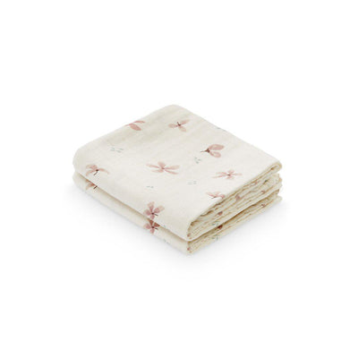 Cam Cam Copenhagen Muslin Cloth - Windflower Creme - 2 Pack-Muslin Squares-Windflower Cream- Natural Baby Shower