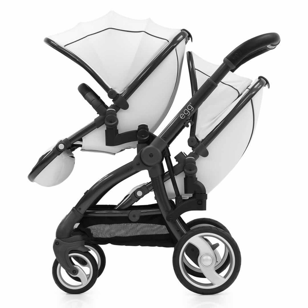 Car Seat & Stroller Accessories - Egg Tandem Seat - Gun Metal With Arctic White