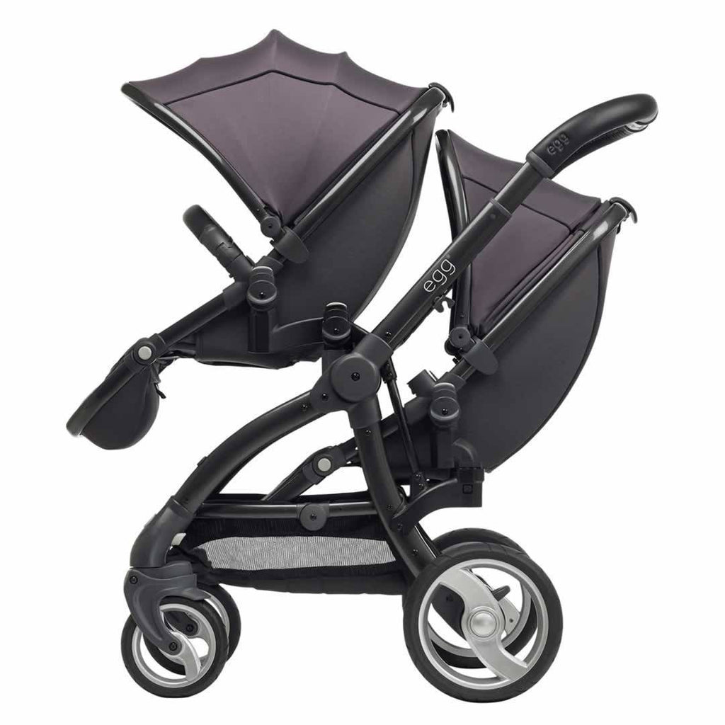 Car Seat & Stroller Accessories - Egg Tandem Seat - Gun Metal With Storm Grey