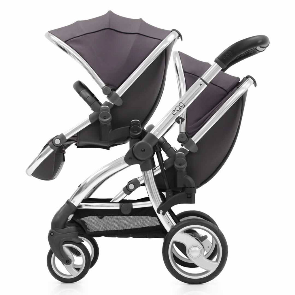 Car Seat & Stroller Accessories - Egg Tandem Seat - Mirror With Storm Grey