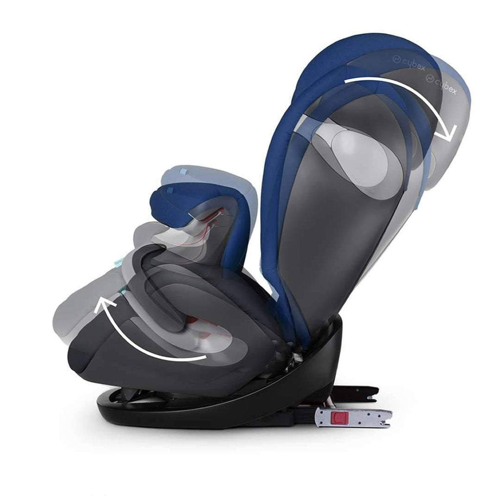 Cybex Pallas M-Fix Car Seat Happy Black Head Adjustment