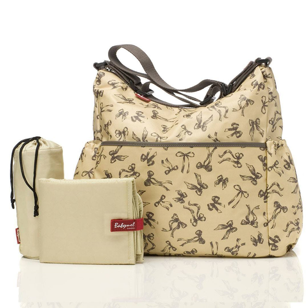 Changing Bags - Babymel Changing Bag - Big Slouchy - Vintage Bows