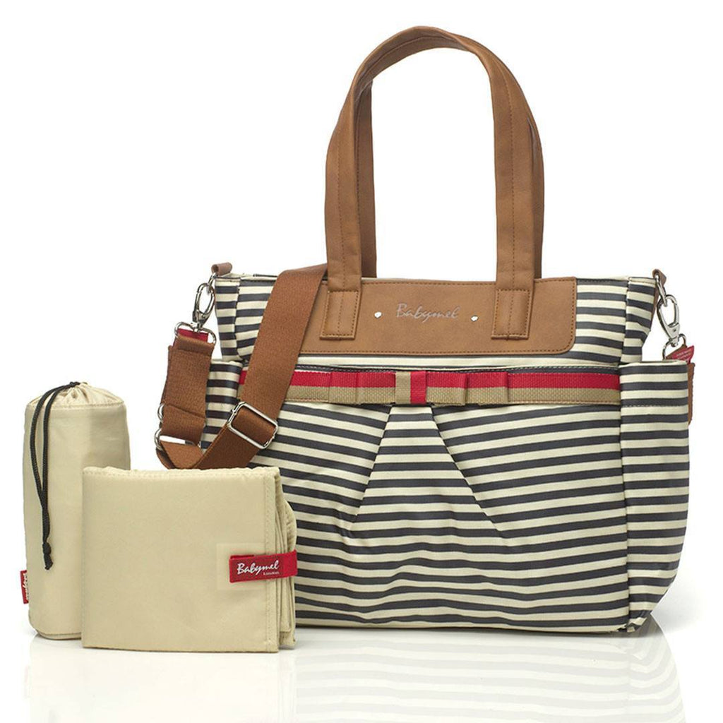 Babymel Changing Bag - Cara - Navy Stripe-Changing Bags-Default- Natural Baby Shower