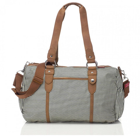 Changing Bags - Babymel Changing Bag - Ella - Stripe Navy